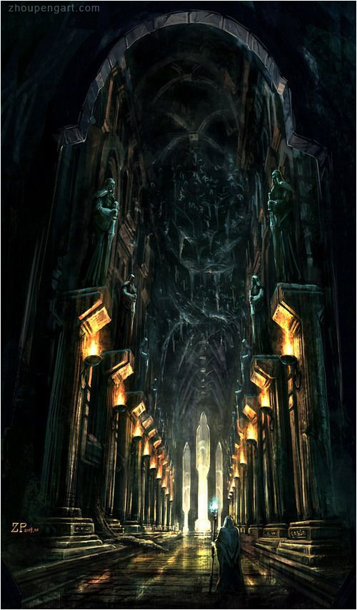 The Ruling Hall in Xaramar, the capital city of Xrath ...