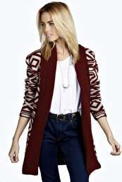 Sophie Shawl Collar Geo Print Cardigan Get wonderful discounts up to 60% Off at Boohoo with Coupon and Promo Codes.
