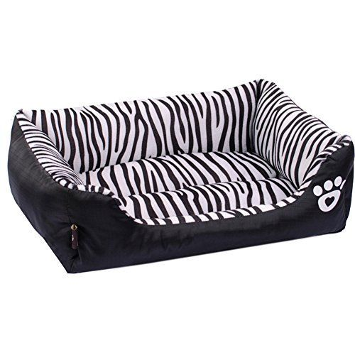 Pet Dog Puppy Soft Black Zebra Striped Patterns Bed House Square Durable Dog Indoor Sofa Check Out This Great Product Not Dog Pet Beds Dog Bed Sizes Dog Bed