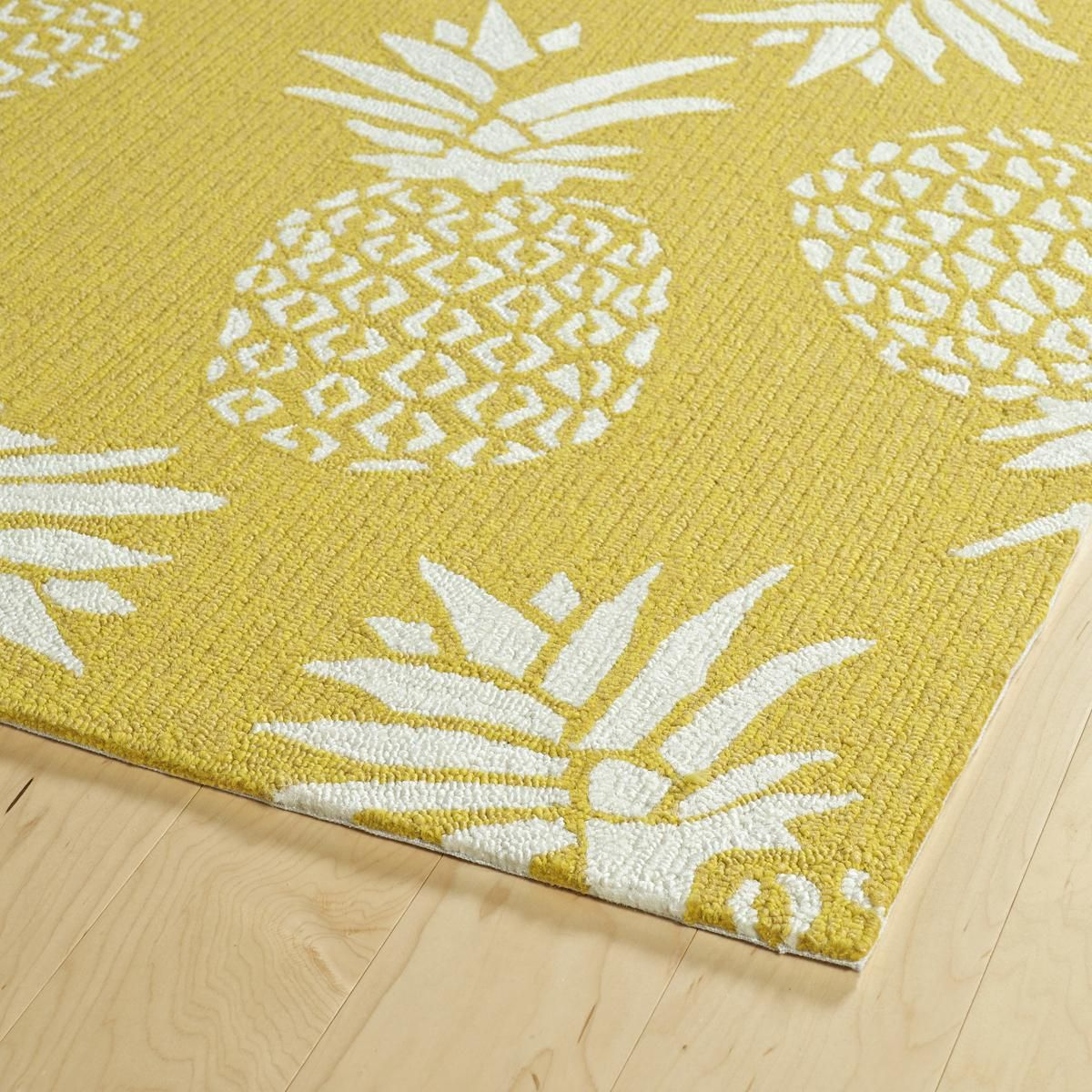 Spunky Pineapple Indoor Outdoor Rug Pineapple Kitchen Decor Retro Decor Kitchen Decor