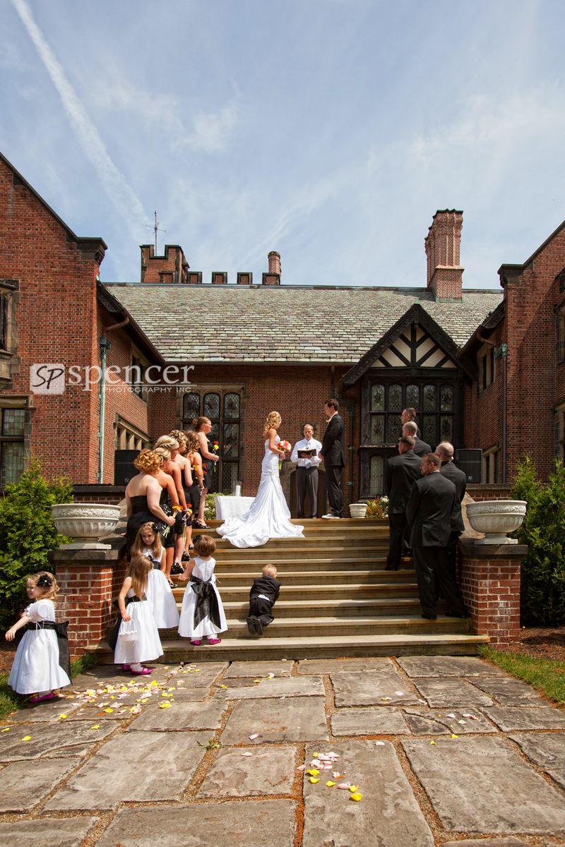 Ryan And Marianne S Stan Hywet Wedding Ceremony Cleveland Wedding Venue Ceremony Wedding