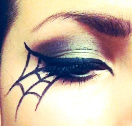 DIY spiderweb halloween eye makeup #cateye #eyeshadow #halloween Beauty & Personal Care http://amzn.to/2kaLGnP