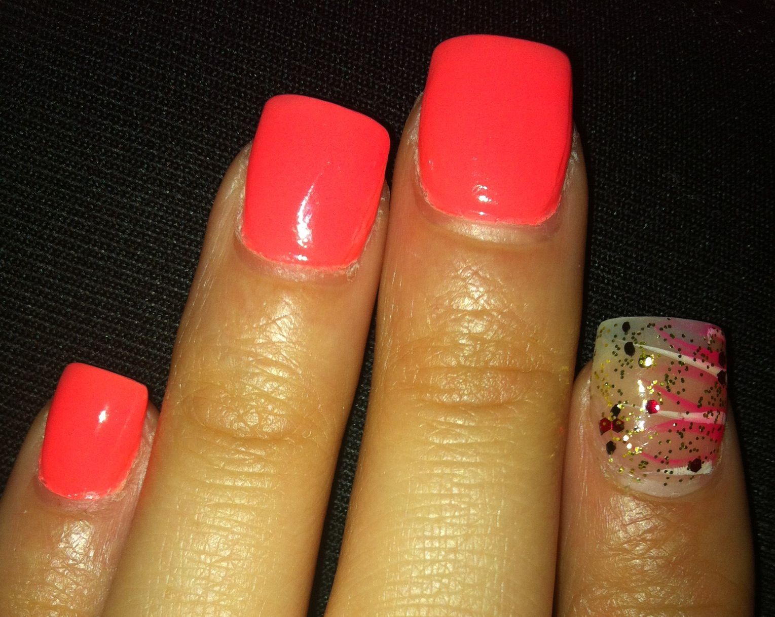 Full color nail art - I Like My Full Color Acrylic Nail