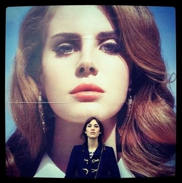 With Lana del rey and alexa chung was