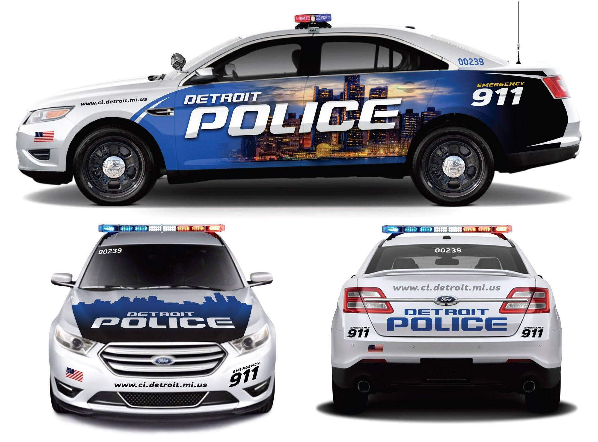 New Taurus Detroit Police Car Police Cars Ford Police Police