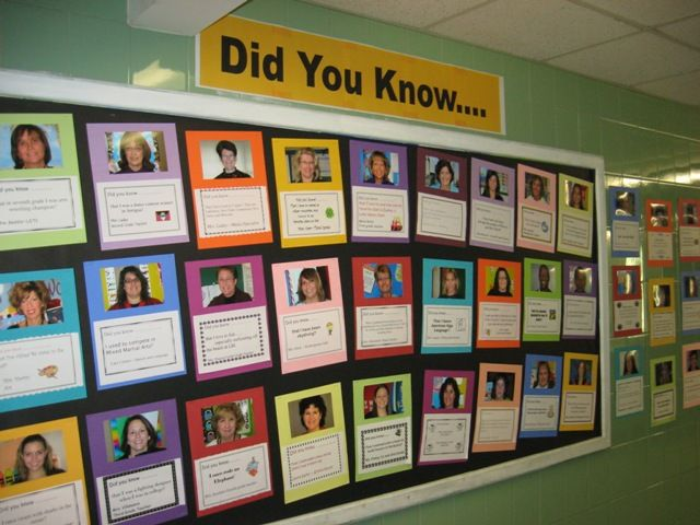 School Open House Ideas | What a great idea for Open House, Back to School Night, Meet and ...