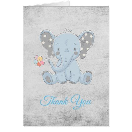 Elephant baby shower thank you card baby gifts child new born elephant baby shower thank you card baby gifts child new born gift idea diy cyo negle Image collections