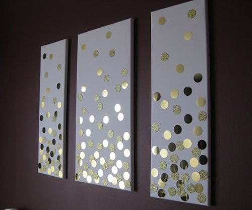 Canvas Wall Art Diy love the simple circles but would have the 3 colours i am using