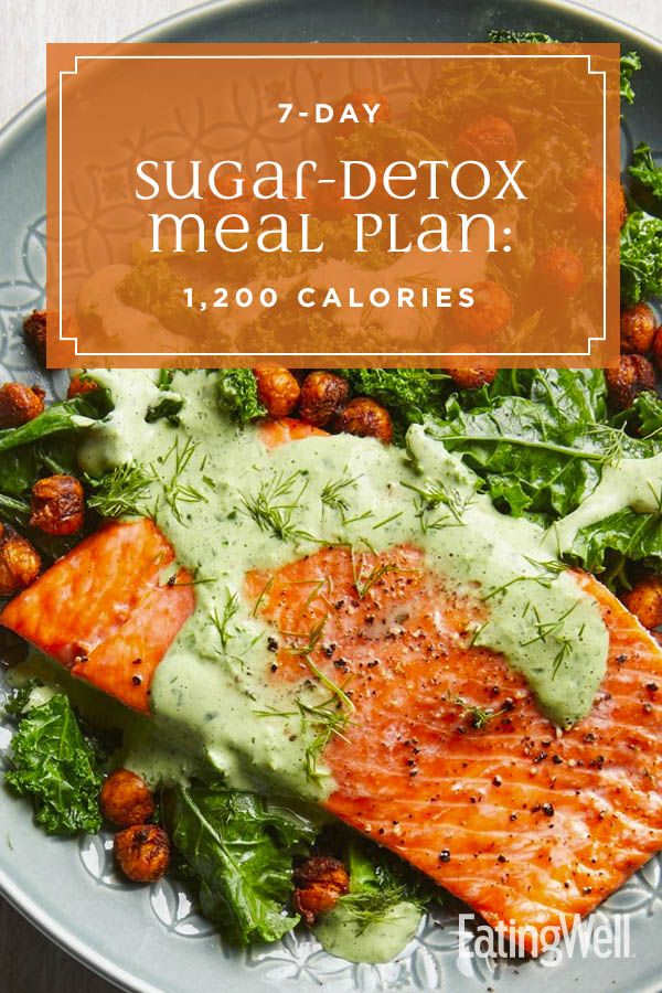 7-Day Sugar-Detox Meal Plan: 1,200 Calories