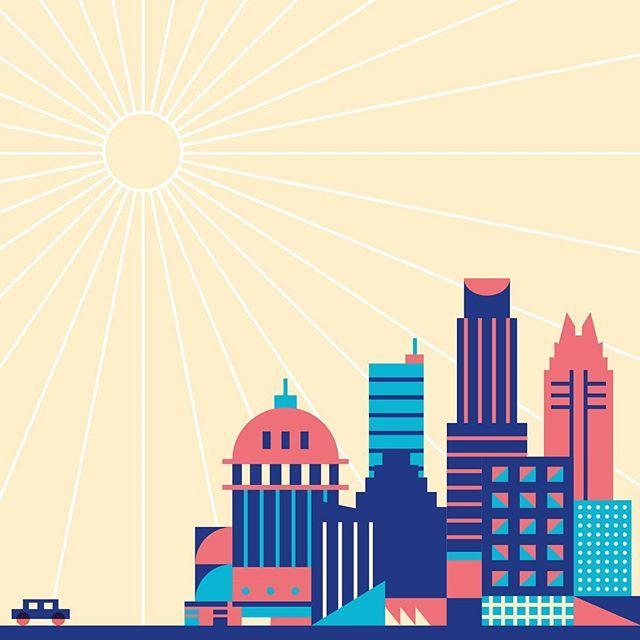 Austin doodle. #Austin #austintx #city #illustration #vector #texas