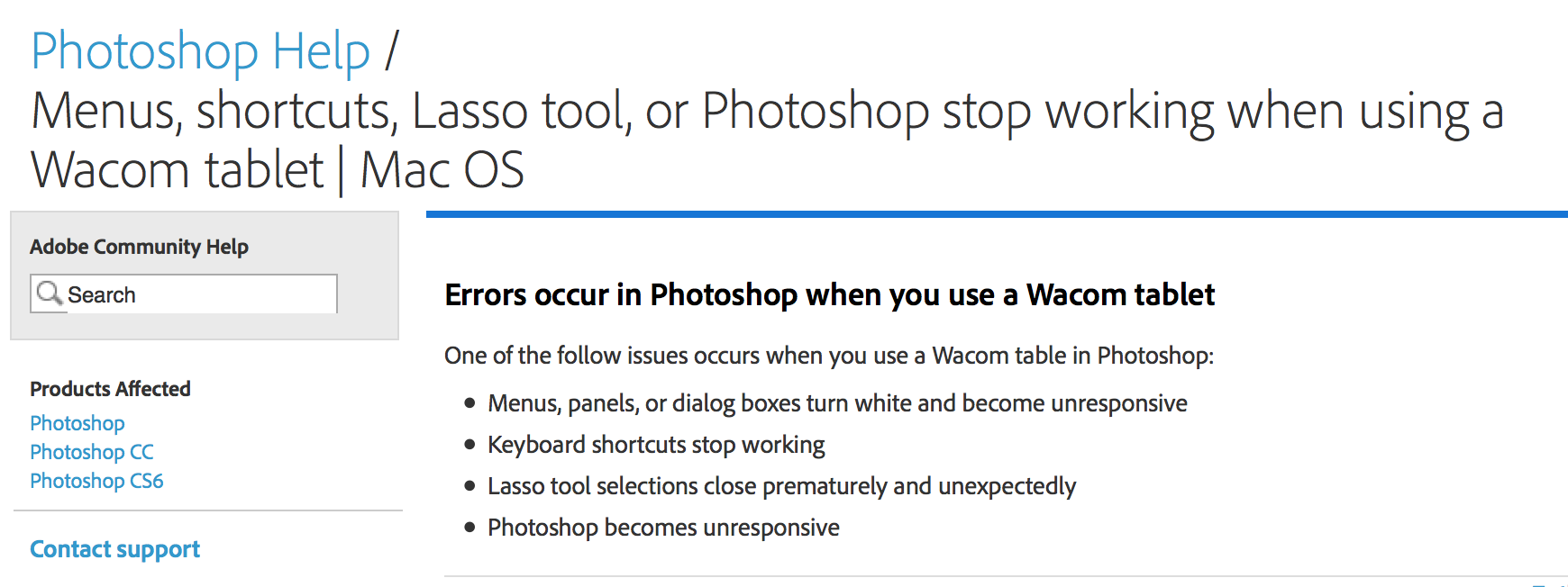 Menus, shortcuts, Lasso tool, or Photoshop stop working when using a