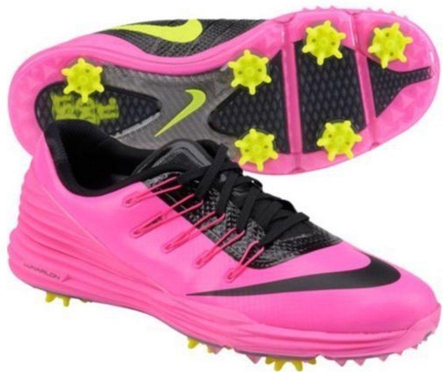 8d3427bd23ed Nike Women s Lunar Control 4 Golf Shoes 819034 600 Pink Blast Volt Black   Nike  GolfCleats