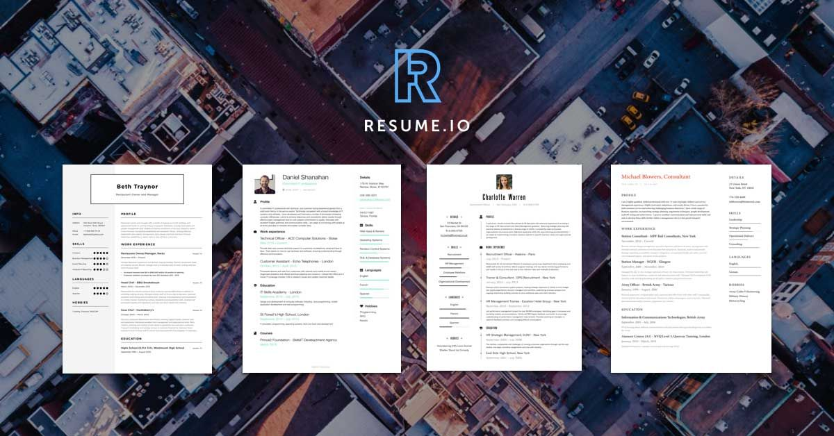 Free Online Resume Builder Allows You To Create A Perfect Resume