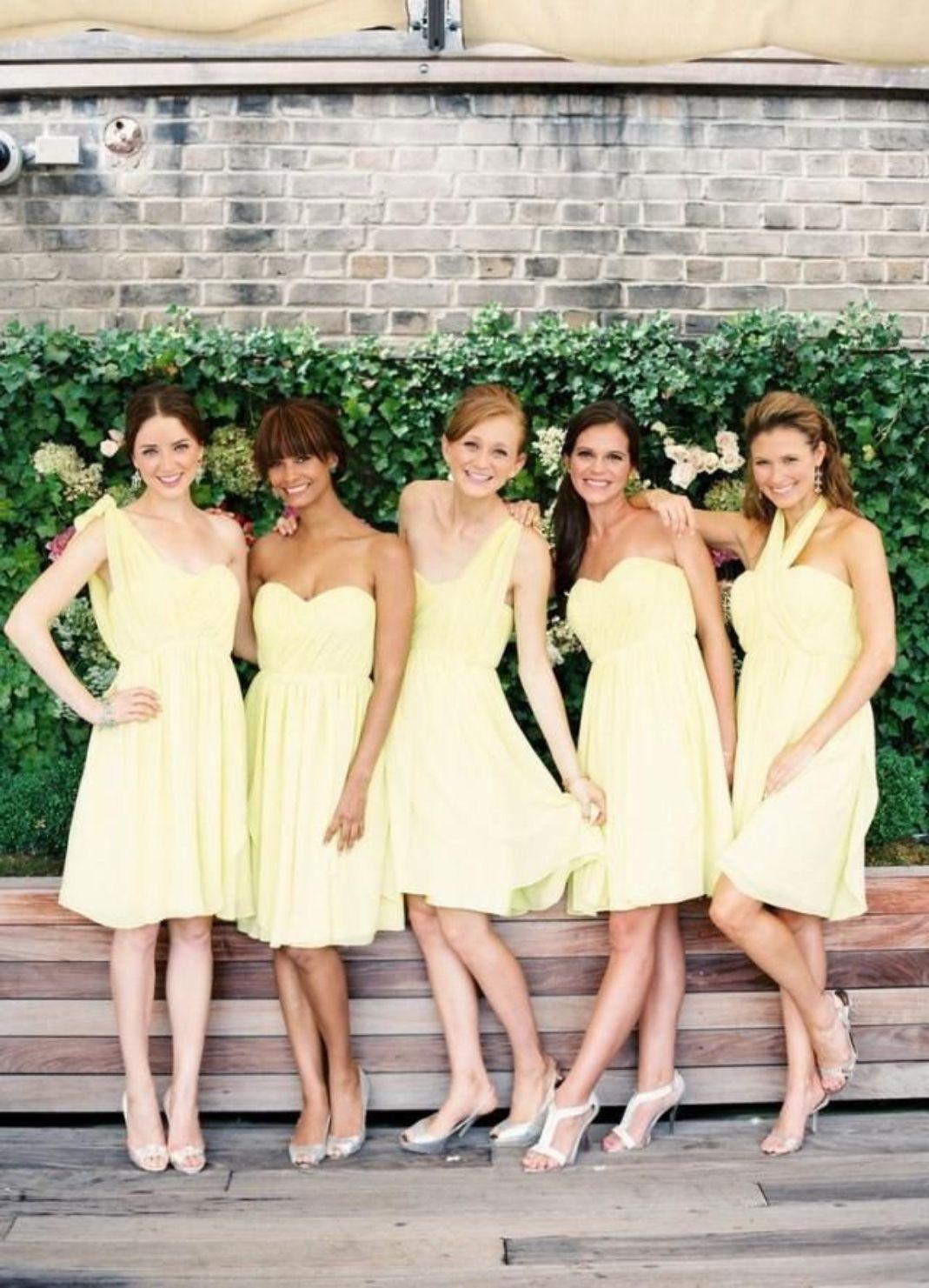 Short yellow bridesmaid dresses bridesmaid dresses short