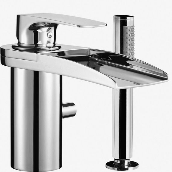Wall Mounted Waterfall Bath Taps With Shower Attachment - Famous ...