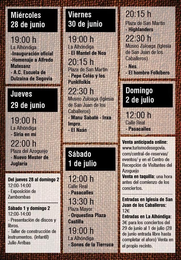 Folk Segovia cumple su XXXIV edición