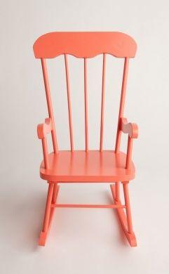 Delightful Girls Coral Pink Rocking Chair   Designer Wood Rocker For Toddlers, Kids U0026  Children