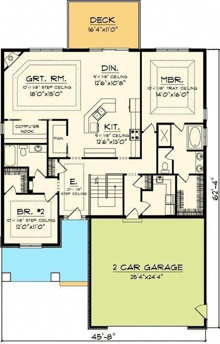 20 Exciting Designs For Beachcottageshabbychic New House Plans Ranch House Plans House Plans