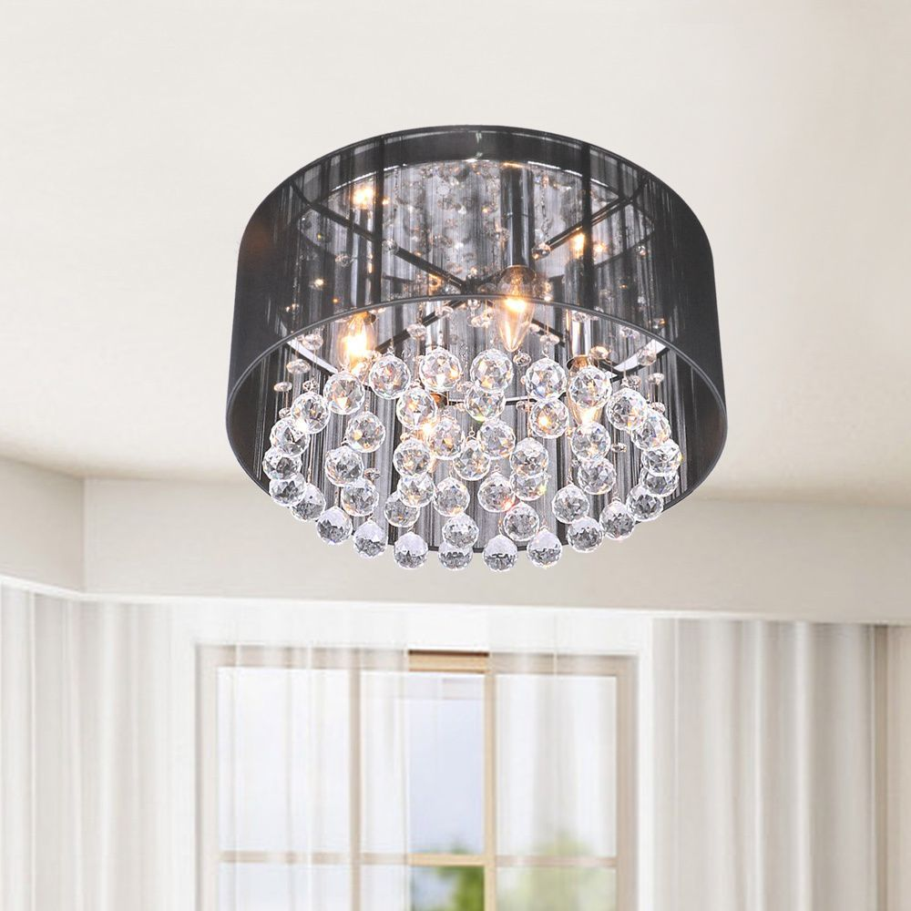 Create an elegant and modern display of illumination with this create an elegant and modern display of illumination with this silvia flushmount chandelier featuring cascading arubaitofo Gallery