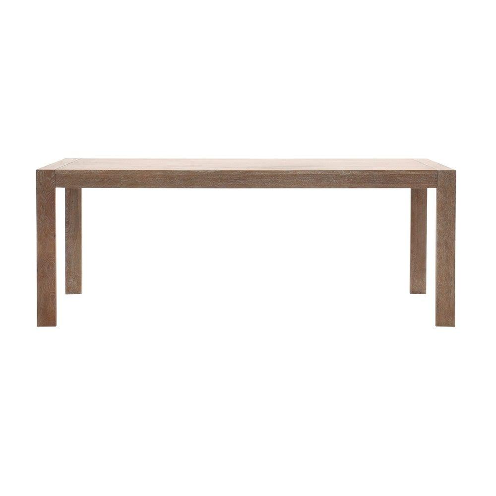 Tavolo per sala da pranzo in massello di quercia sbiancato L 200 cm ...