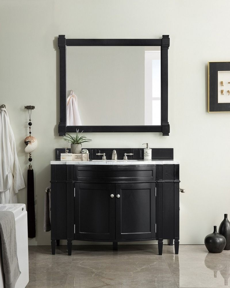 46 Single Sink Bathroom Vanity Cabinet Black Onyx Finish