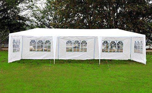 MCombo 10x30 White Canopy Heavy duty Party Outdoor Wedding Tent 5 Removable Walls 6053W1030w5PC ** & MCombo 10x30 White Canopy Heavy duty Party Outdoor Wedding Tent 5 ...