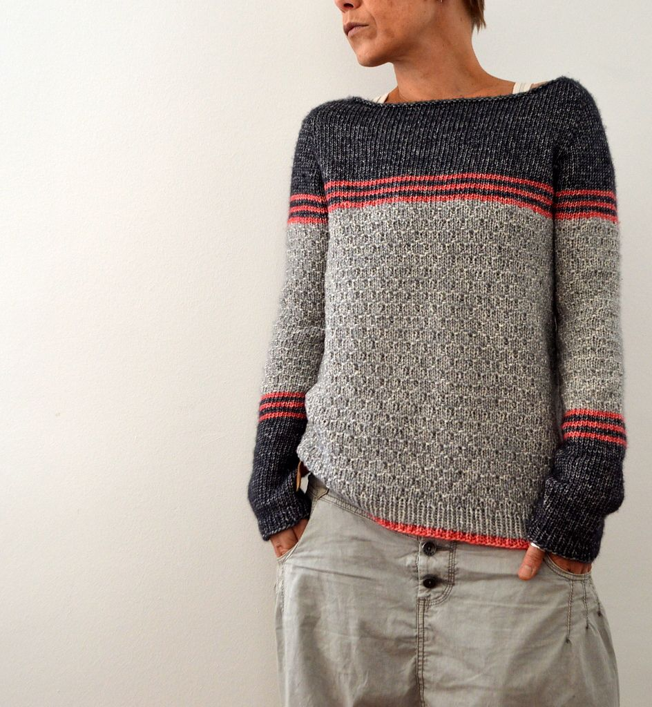 a cozy striped jumper to live in ;) the yarn was a pleasure to work with  and the special 'look' of it gives the textured pattern a fabulous depth  worked ...