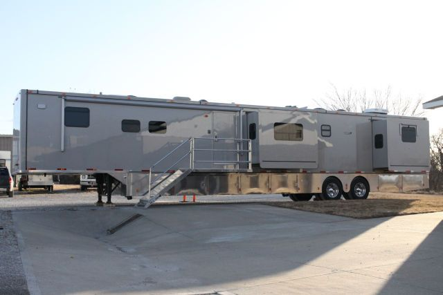 Humane Society truck and trailer for mobile vet hospital