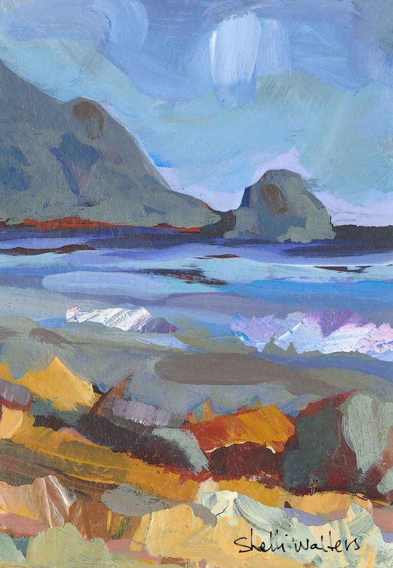 Oregon Coast Original Painting par ShelliWalters sur Etsy