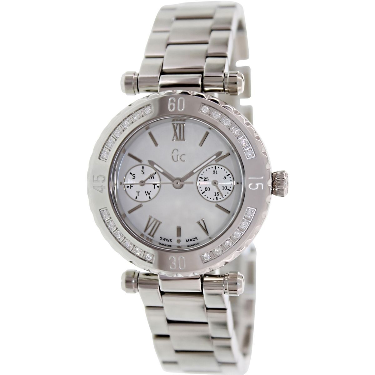 Guess Men's X42107L1S Silvertone Swiss Quartz Watch