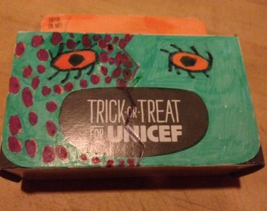 Check out our #ToT4UNICEF Box of the Day: Tsige's purple-speckled creature. Have you submitted yours yet?