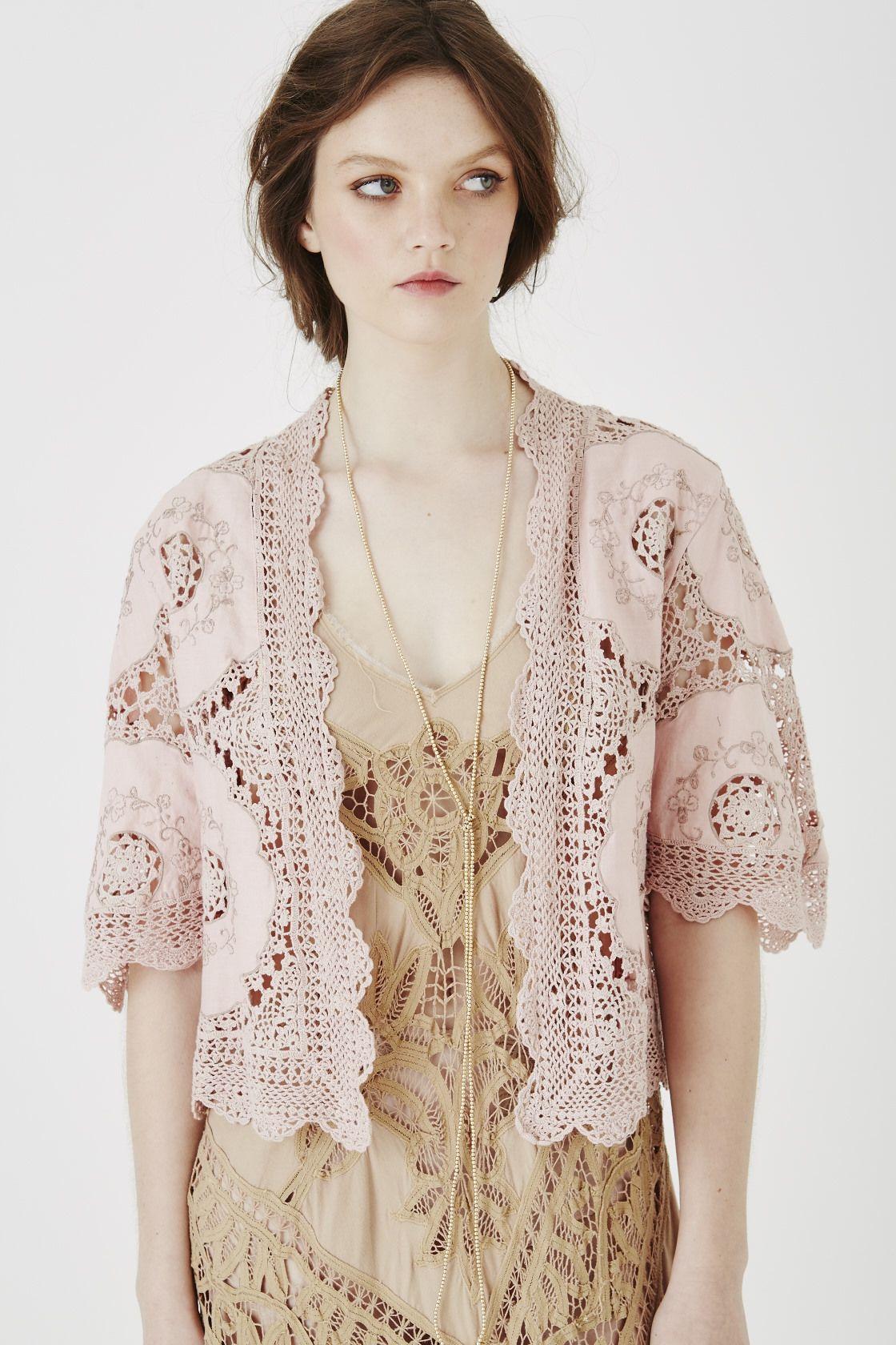 2968f129fe3 BOHO BEAUTY  in my dreams  shrug in rose pink cotton crochet Shrug For  Dresses