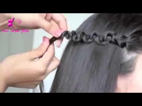تسريحة شعر سهلة و سريعة للمدرسة Hair Styles Hair Hair Wrap