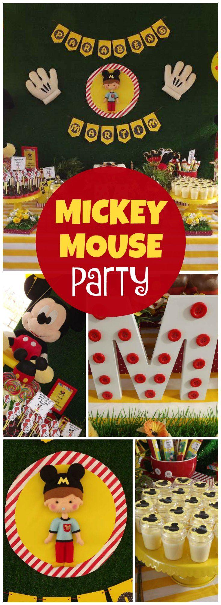 mickey mouse boy birthday party ideas
