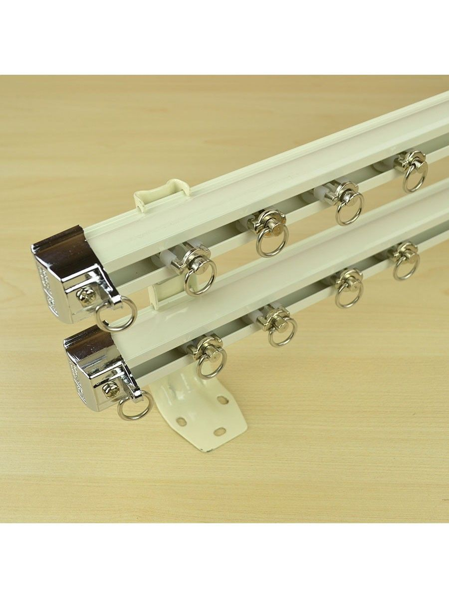 Chr7522 Ceiling Wall Mount Custom Double Curtain Track Set