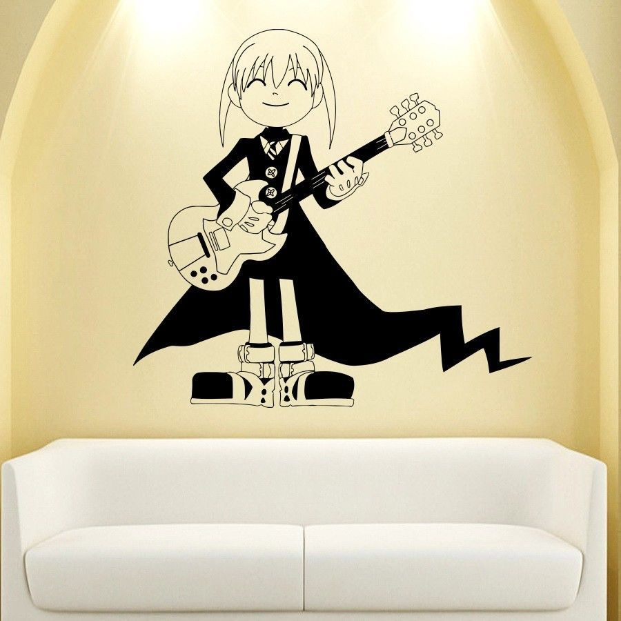 WALL VIINYL STICKER DECAL ART MURAL ANIME MANGA LITTLE GIRL WITH ...