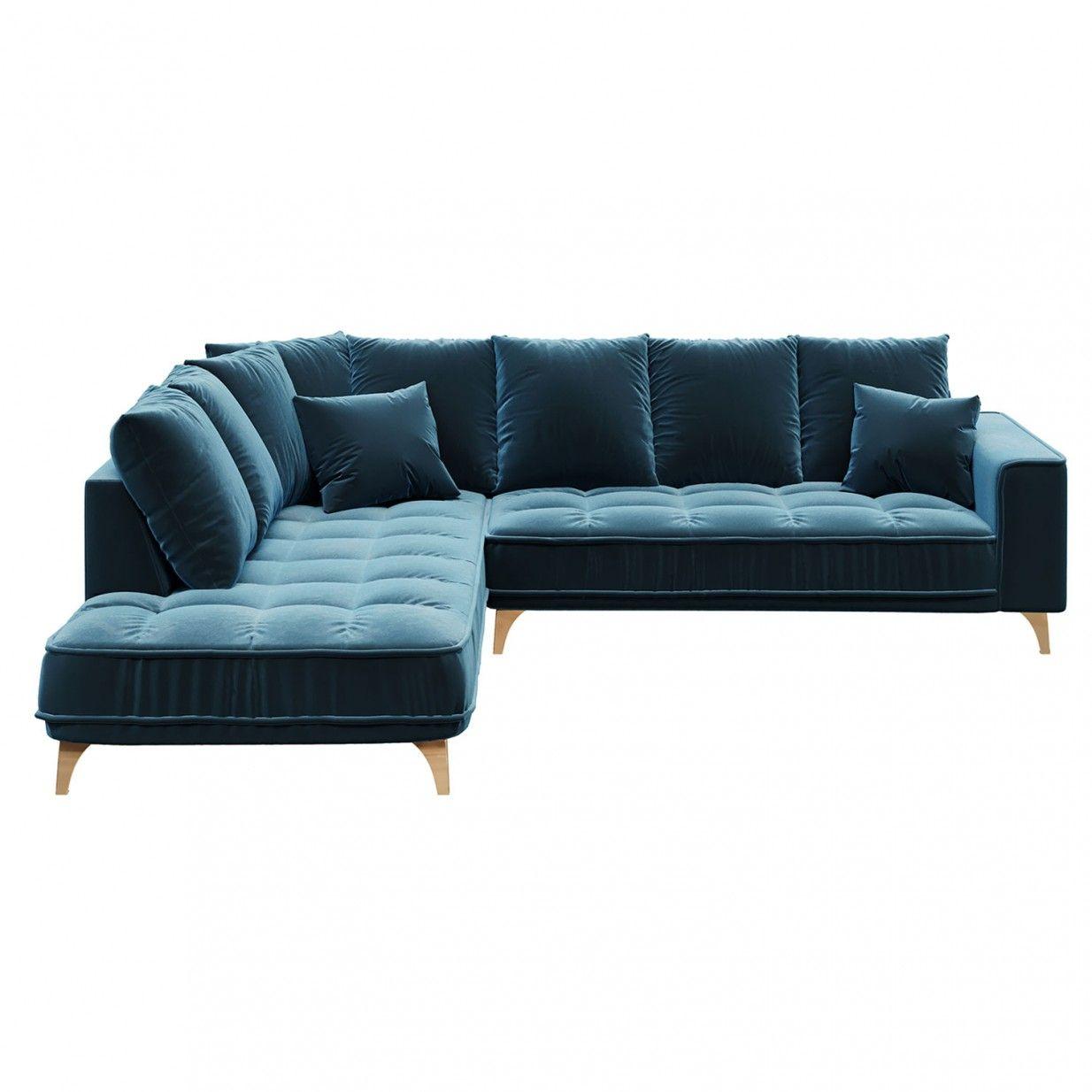 Chloe Linkes Ecksofa Blau Devichy Home Decor Sectional Couch Couch