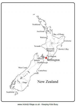 Printable Map New Zealand.New Zealand Outline Map Quiet Book Idea Map Of New Zealand New
