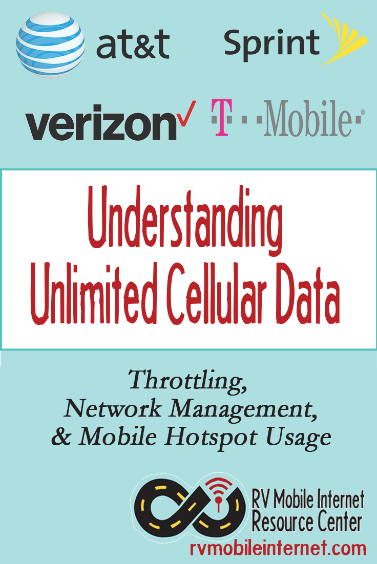 Unlimited Data Plan Options for Verizon, AT&T, TMobile