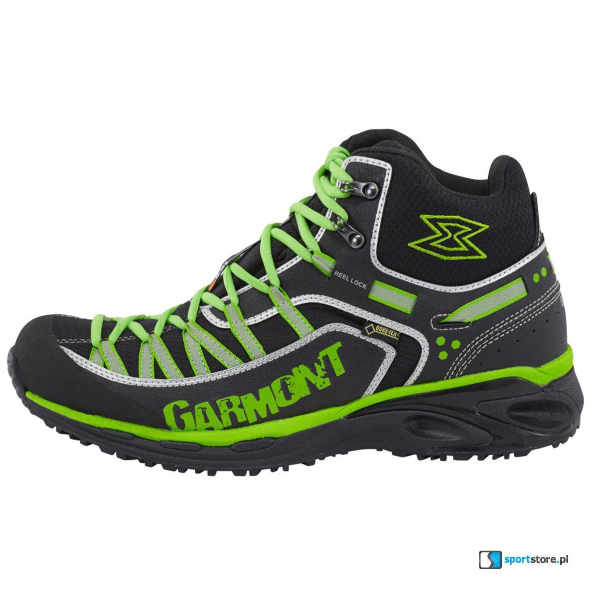 Buty Trekkingowe Garmont 9 81 Escape Pro Mid Gtx Black Green Gore Tex Hoka Running Shoes Gore Tex Black
