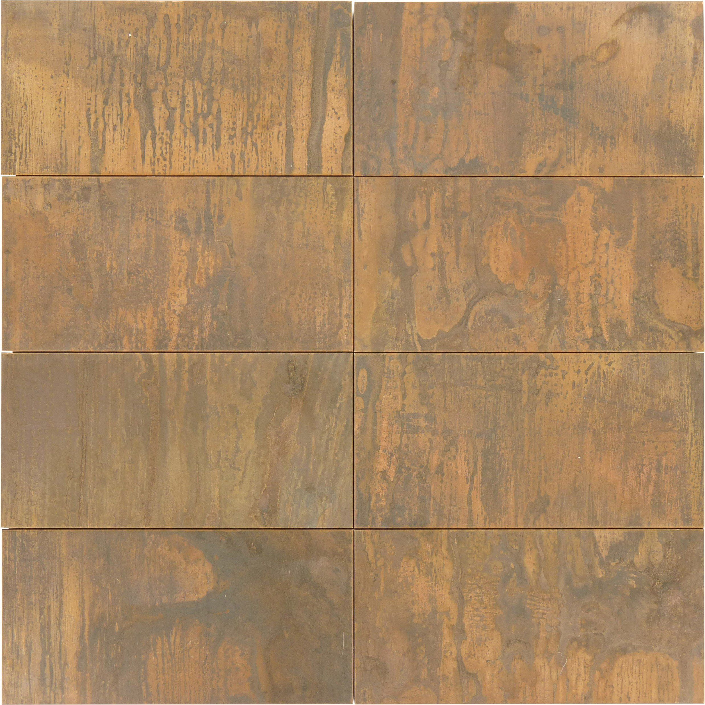 Sheet Size Approx 1 Sq Ft Tile Size 3 X 6 Tile Thickness 1 4 Grout Joints 1 8 Sheet Mount Plastic Face Copper Mosaic Tile Copper Mosaic Copper Tiles