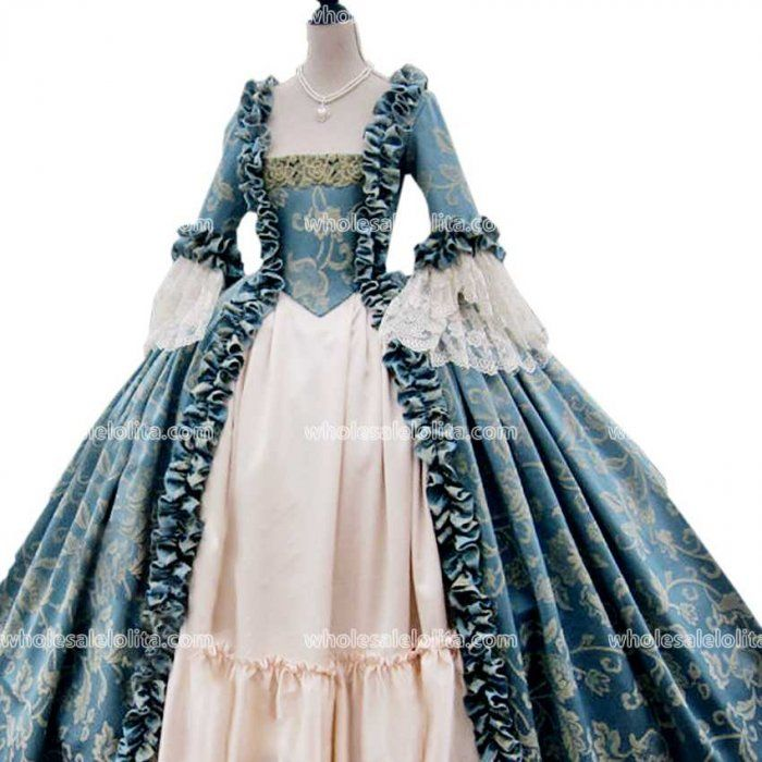 MoonHome Womens Marie Antoinette Rococo Ball Gown Renaissance Gothic Dark Queen Dress Ball Gown Steampunk Vampire Costume