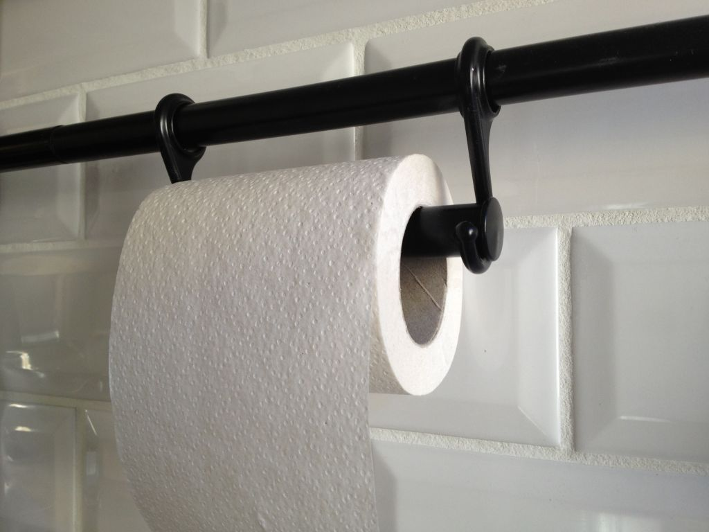 Ikea Küchenrollenhalter ~ Fintorp rails and hooks from ikea to make a paper towel holder