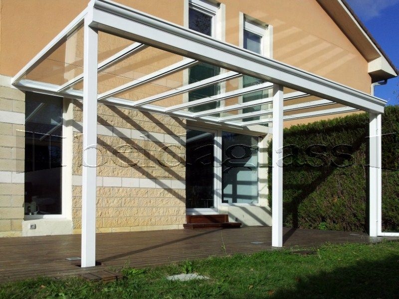 Techo de cristal para terraza luminosidad y transparencia - Tejados de cristal ...