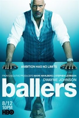 - Dwayne Johnson John David Washington 2015 TV Poster 24x36 Ballers