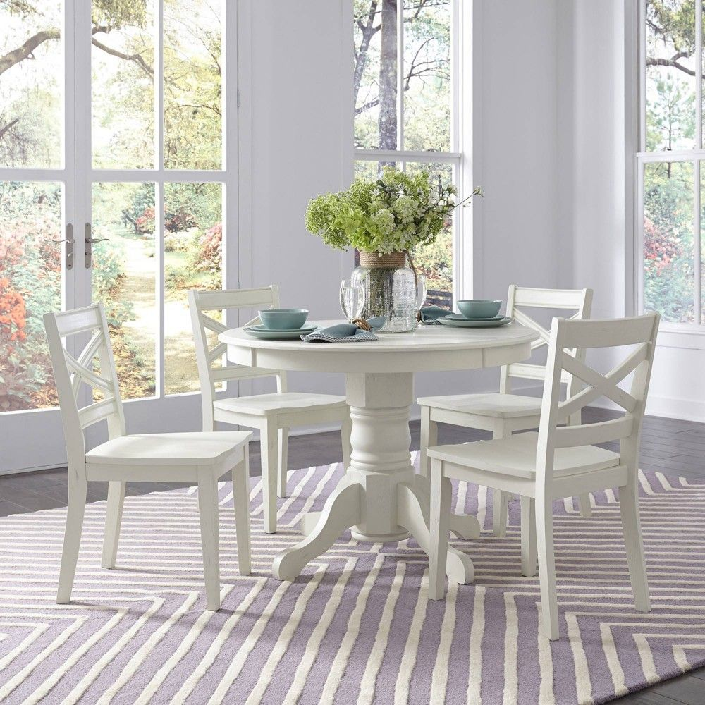 5pc Seaside Lodge Round Dining Set White Home Styles In 2020