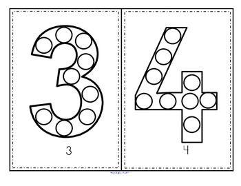 Numbers Bingo Dot Markers 0 20 Fine Motor And Counting Distance Learning Dot Markers Bingo Marker Numbers Math Activities Preschool