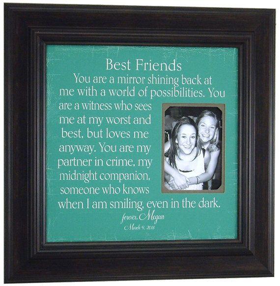 Best Friend Sister Friend Maid of Honor by PhotoFrameOriginals ...