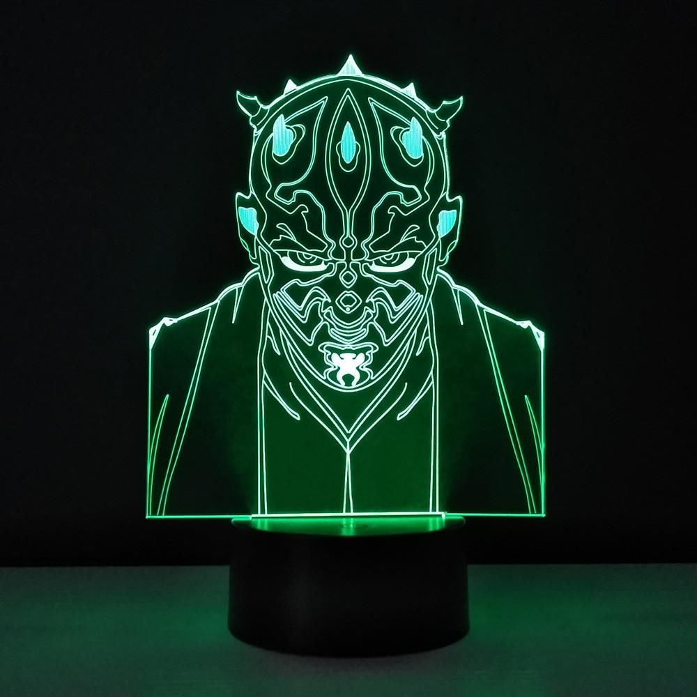 Star Wars Darth Maul 3d Table Lamp Led Night Light Home Lighting Usb Touch Lampara Desk Star Wars Darth Maul 3d Ta Led Night Light Night Light Star Wars Darth