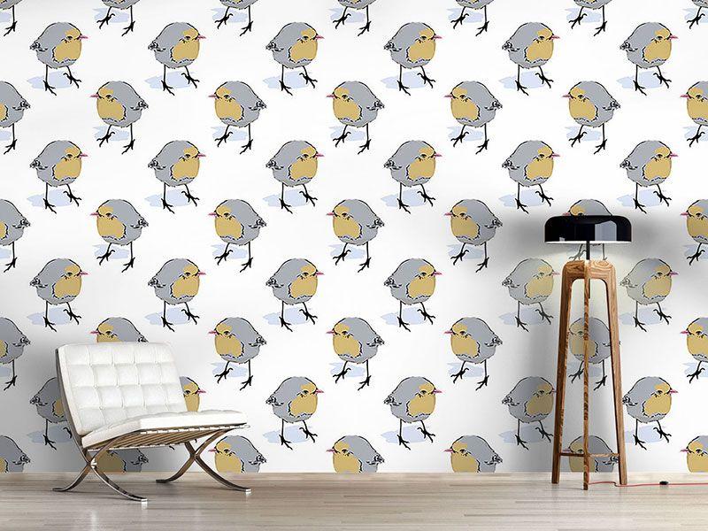 Design #Tapete Birdie Seitenblicke